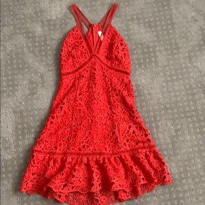 Coral Red Dress NORDSTROM (ASTR The Label)